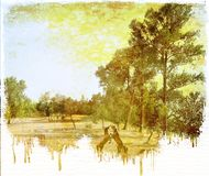 Сбор винограда капая сельский взгляд иллюстрация штока
