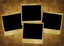 сбор винограда карточки старый бумажный Стоковая Фотография