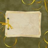 сбор винограда карточки старый бумажный Стоковое Фото
