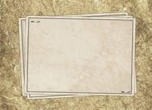 сбор винограда карточки старый бумажный Стоковое фото RF
