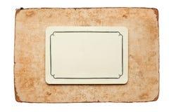 сбор винограда карточки Стоковое Изображение RF