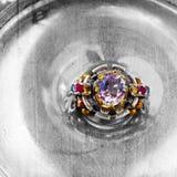 сбор винограда кольца тахты стоковое изображение rf