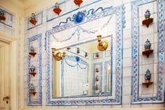 сбор винограда комнаты ванны Стоковое Изображение RF