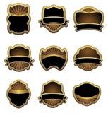 сбор винограда комплекта ярлыков золота иллюстрация штока