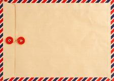 сбор винограда конвертной бумага предпосылки воздушной почты Стоковая Фотография RF