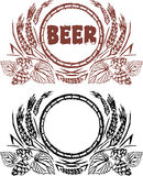 сбор винограда конструкции пива творческий Стоковое фото RF
