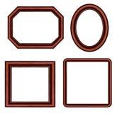 сбор винограда коричневого изображения рамок установленный Стоковые Фото