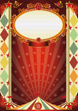 сбор винограда косоугольника плаката цирка Стоковое Изображение RF