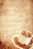 сбор винограда кофе предпосылки Стоковая Фотография RF