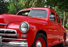 сбор винограда красного цвета автомобиля Стоковые Изображения
