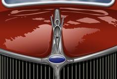 сбор винограда красного цвета автомобиля Стоковое Изображение