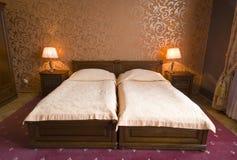 сбор винограда кроватей твиновский стоковые изображения