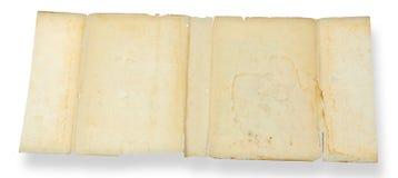 сбор винограда листа grunge старый бумажный Стоковая Фотография RF