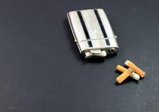 сбор винограда лихтера сигареты случая прикладов Стоковая Фотография RF