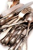 сбор винограда ложки макроса ножа вилки Стоковые Изображения RF