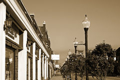 сбор винограда маленького города тротуара Стоковые Изображения RF