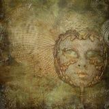 сбор винограда маски grunge предпосылки Стоковые Изображения