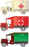 сбор винограда машин скорой помощи Иллюстрация вектора