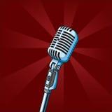сбор винограда микрофона иллюстрация штока
