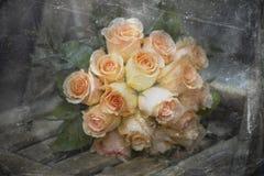 сбор винограда невесты букета Стоковые Изображения RF