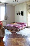 сбор винограда ночи одного светильника спальни кровати одиночный Стоковая Фотография