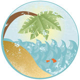 сбор винограда океана Стоковое Изображение