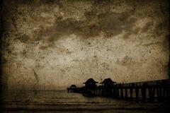 сбор винограда пляжа предпосылки Стоковое Фото