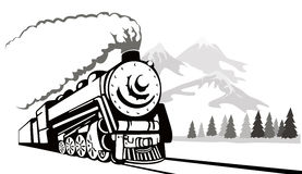 сбор винограда поезда перемещая стоковая фотография rf
