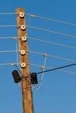 сбор винограда полюса электричества Стоковые Фото