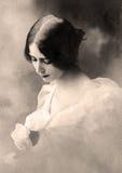 сбор винограда портрета Стоковое Изображение