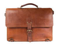сбор винограда портфеля кожаный Стоковое Фото