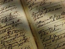 сбор винограда почерка Стоковая Фотография RF