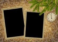 сбор винограда праздника часов карточки Стоковые Изображения RF