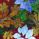 сбор винограда предпосылки искусства флористический Стоковое фото RF