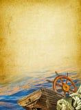 сбор винограда предпосылки морской Стоковое Изображение RF