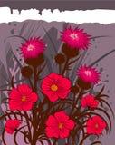 сбор винограда предпосылки флористический Стоковые Изображения