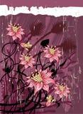 сбор винограда предпосылки флористический Стоковое Изображение RF