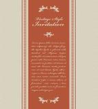 сбор винограда приглашения карточки Стоковое Изображение