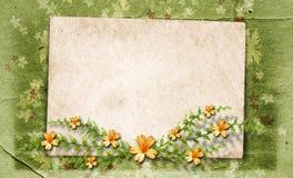 сбор винограда приглашения рамок Стоковое Изображение