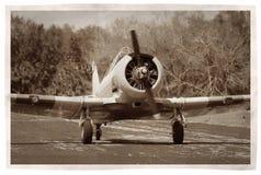 сбор винограда пропеллера самолета Стоковые Изображения RF