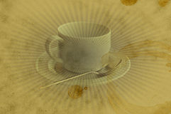 сбор винограда пятна grunge кофейной чашки предпосылки Стоковое Изображение