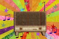 сбор винограда радио бумаги шелковицы иконы Стоковые Фото