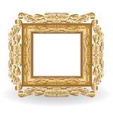 сбор винограда рамки золотистый иллюстрация вектора