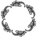 сбор винограда рамки круглый стоковое изображение