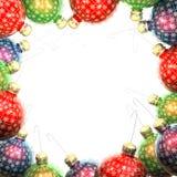 сбор винограда рамки рождества шариков Стоковое Фото
