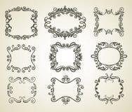 сбор винограда рамки doodle Стоковая Фотография