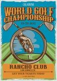 сбор винограда распаровщиков плаката california Стоковое Изображение RF