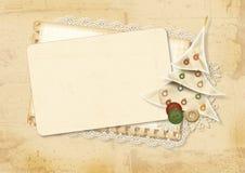 сбор винограда рождества карточки Стоковое Изображение