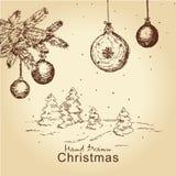 сбор винограда рождества установленный бесплатная иллюстрация