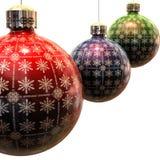 сбор винограда рождества 3 шариков Стоковое Фото